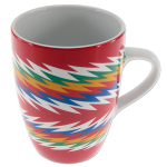 Native woven sash design mugs