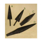 Hand-Forged Iron Arrowheads
