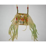 Rawhide Painted Medicine Pouch Necklace
