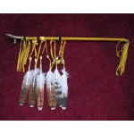 Simulated Hawk Foot Dance Staff