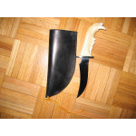 BLACK BEAR JAW KNIFE WITH CASE