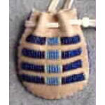 Oval Beaded Medicine Bag