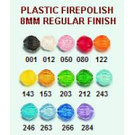 Plastic Fire Polish Beads