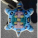 "Round Fully Beaded ""Turtle"" Amulet Small"